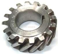 4CV/Dauphine/Floride/Juvaquatre. Kurbelwellen Zahnrad (Stahl). 16 Zähne. Innendurchmesser: 25mm. Außendurchmesser: 53,5mm. Breite: 19mm. -1 - 81267 - Der Franzose