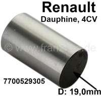 Dauphine/4CV, Stößelbecher (Hohlversion). Passend für Renault Dauphine + Renault 4CV (es müssen für den 4CV die Stößelstangen von dem Dauphine verwendet werden. Der 4CV hat normalerweise geschlossene Stößelbecher). Motor: 750ccm + 845ccm. Durchmesser: 19,0mm. Or. Nr. 7700529305 - 80169 - Der Franzose