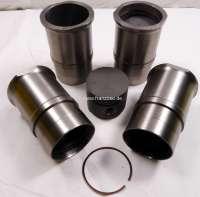 R16 TS, Kolben + Zylinder (4 Stück). Passend für Renault R16 TS. Motor: 807 83/03/04/05/06. Hubraum: 1565ccm. Bohrung: 77,0mm. Kolbenbolzen: 20 x 68mm. Kolbenringe: 1,75 + 2,0 + 4,0mm. Aussendurchmesser unten: 82,50mm. Aussendurchmesser oben: 96,0mm. Höhe gesamt: 143,50mm -1 - 80096 - Der Franzose