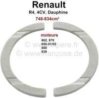 R4/4CV/Dauphine, Anlaufscheiben für die Kurbelwelle, Passend für Renault R4, Motoren: 662,680-01/02, 839, 670, 800. Renault 4CV + Dauphine 748-845ccm. Standardmaß. Abmessung: Innendurchmesser 44mm, Außendurchmesser 55,6mm, 2mm dick. - 81074 - Der Franzose
