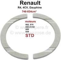 R4/4CV/Dauphine/R5, Kurbelwelle Anlaufscheibe (Axialspiel), Standardmaß. Abmessung: Innendurchmesser 44mm, Außendurchmesser 55,6mm, 2mm dick. Passend für Renault Motor: 662, 680 702, 690, 839 706, 670, 800,B1B, 800 70. Hubraum 603cc, 748cc, 782cc, 845cc. Passend für Renault R4, 4CV, Dauphine, Dauphinoise, Juvaquatre, R5 (782cm³), Floride - 81074 - Der Franzose