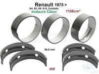 R4/R5/R8/R10/Estafette, Kurbelwellenlager (5 Lager, C = Cleon). Breite: 5x 19,47mm. Standartmaß. Für Kurbelwelle von 54,783 bis 54,793mm. Passend für Renault Motoren: 688 1, C1E700, C1E754, C1E715, C1E720, C1E750. Hubraum: 1108cc. - 81087 - Der Franzose