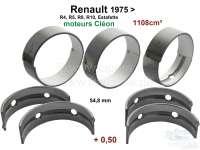R4/R5/R8/R10/Estafette, Kurbelwellenlager (5 Lager, C = Cleon). Breite: 5x 19,47mm. 2 Übermaß (+,0,50). Passend für Renault Motoren: 688 1, C1E700, C1E754, C1E715, C1E720, C1E750. Hubraum: 1108cc. - 81089 - Der Franzose