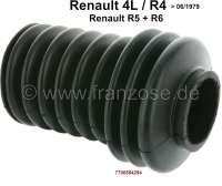 R4, Lenkungsmanschette (Nachbau). Passend für Renault R4, bis Baujahr 06/1979. Renault R5 + R6. Öffnungen ca.: 34 + 24mm. | 83103 | Der Franzose - www.franzose.de
