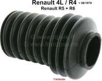 R4, Lenkungsmanschette (Nachbau). Passend für Renault R4, bis Baujahr 06/1979. Renault R5 + R6. Öffnungen ca.: 34 + 24mm. - 83103 - Der Franzose
