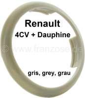 4CV/Dauphine, Kunststoffring für das Emblem im Lenkrad. Farbe: grau. Passend für Renault 4CV, zweite Version. Renault Dauphine. | 83377 | Der Franzose - www.franzose.de