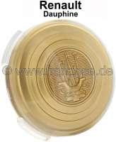 Dauphine, Lenkrademblem - Hupenknopf. Zweite Ausführung (Quillery). Passend für Renault Dauphine. | 85375 | Der Franzose - www.franzose.de