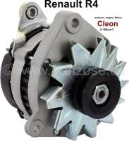 Lichtmaschine Renault R4 (Motor: Cléon 1108ccm), mit integrierten Lichtmaschinenregler. 12 Volt, 50 Ampere. Einbaulage: 70°. Riemenscheibe: 62mm. 3 x Befestigung (Doppelarm). | 82111 | Der Franzose - www.franzose.de