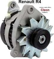 Lichtmaschine Renault R4 (Motor: Cléon 1108ccm), mit integrierten Lichtmaschinenregler. 12 Volt, 50 Ampere. Einbaulage: 70°. Riemenscheibe: 62mm. 3 x Befestigung (Doppelarm). - 82111 - Der Franzose