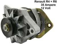 Lichtmaschine Renault R4 + R6, ohne Lichtmaschinenregler. 12 Volt. 35 Ampere. Einbaulage: 50°. Drehrichtung gegen Uhrzeigersinn. Zuzüglich 100 Euro Altteilpfand. - 82660 - Der Franzose