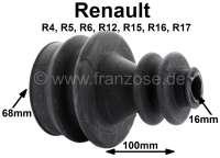 Antriebswellenmanschette, radseitig. Passend für Renault R4, R5, R6, R12, R15, R16, R17. Innendurchmesser: 16 + 68mm: Gesamtlänge: 100mm. | 83066 | Der Franzose - www.franzose.de