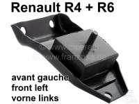 R4, Motorhalterung, vorne links. Passend für Renault R4 (R1123, R1126, R1129, R2106, R2391, R2392), von Baujahr 1976 bis 1982. R4 (R1123, R2106, R2391) ab Baujahr 1983. Renault R6, bis Baujahr 1970. - 81030 - Der Franzose