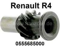 Ölpumpen Antriebswelle (Verteiler Antriebswelle) für Renault R4. Motor B1B + 800.  11 Zähne, innen Feinverzahnt. Für Verteiler mit 1 Spaten. (Die Welle am Verteiler ist flach). Or. Nr. 0555685000 - 81066 - Der Franzose