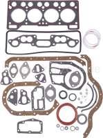 R4/R5, Motordichtsatz komplett, inclusive Simmerringe. Motor: C1C + 688, C1E-714/718,(955cc + 1108cc). Passend für Renault R4. Renault R5 TL. Bohrung: 65 + 70mm. - 81003 - Der Franzose