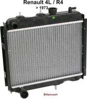 R4, Kühler 1 Ausführung (Original Zulieferer) Renault R4. Verbaut bis Baujahr 1973, bei Motoren Typ Billancourt. Der Kühler sitzt direkt vor dem Motorblock. Tiefe 40mm, Breite 395mm, Höhe 340mm. - 82935 - Der Franzose