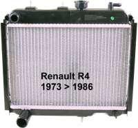 R4, Kühler 2 Ausführung (Original Zulieferer). Passend für Renault R4 + R6. Verbaut von 1973 bis 1986, bei Motoren Typ Billancourt. Der Kühler sitzt direkt vor dem Motorblock. Tiefe 50mm, Breite 395mm, Höhe 340mm. Der Kühler wird ohne Kühlerdeckel geliefert. Bitte mitbestellen (82993) - 82049 - Der Franzose