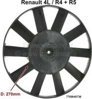 R4/R5, Lüfterflügel 270mm Durchmesser. 10 Blätter. Passend für Renault R4 + R5. Or. Nr. 7700640736 - 82477 - Der Franzose