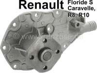 Caravelle/Floride/R8/R10, Wasserpumpe Renault Caravelle, Floride S, R8, R10. Or. Nr. 7701457447. Achtung: Die Renault haben ein offenes Kühlsystem, unbedingt darauf achten dass der richtige Kühlerdeckel ohne Dichtung montiert ist. Die Wasserpumpe hat eine Leckbohrung, wo etwas Wasser austreten kann. Neue Wasserpumpen benötigen ca. 500 bis 1000km, bis sie richtig eingelaufen sind und zu 99,5% abdichten. Etwas tropfen ist normal! - 82202 - Der Franzose