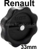 Öleinfülldeckel (Deckel Ölverschluss) 33 mm. Passend für Renault R4, R5, R6, R8, R10, R12. | 80167 | Der Franzose - www.franzose.de