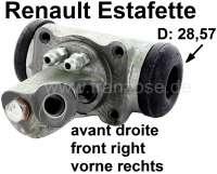 Estafette, Radbremszylinder vorne rechts. Passend für Renault Estafette. Kolbendurchmesser: 28,57mm. Or. Nr. 7701365165 - 84317 - Der Franzose