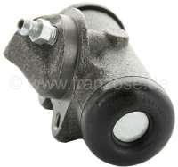R4/R5, Radbremszylinder, vorne rechts. Bremssystem: Bendix. Passend für  Renault R4 (R1123, R1126, R1129), von Baujahr 7/1966 bis 1985. R4 Fougnette, von Baujahr 7/1966 bis 1986. Renault R5, von Baujahr 1972 bis 1984. Kolbendurchmesser: 23,8mm. Bremsleitungsanschluss: 3/8 x 24UNF. Ankerplattenbohrung: 32mm. Länge über alles: 73mm. Made in Europe. -1 - 84126 - Der Franzose