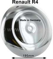 R4, Radkappe verchromt (eloxiert). Durchmesser: 195mm. Passend für Renault R4. Made in Germany | 88119 | Der Franzose - www.franzose.de