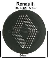 Nabenabdeckung für Felge. Passend für Renault R4 (vorletzte Felgenausführung, verbaut in den achtziger Jahren), R5, R12, R25. Für Felge Mittenloch Durchmesser: 37,00mm. Aussendurchmesser: 54,00mm. Or. Nr. 7700628242 | 87801 | Der Franzose - www.franzose.de