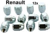 Radmuttern für Felge Alpine Design (12 Stück). Gewinde: M10 x 1,25 / Gewindetiefe: 26mm. Schlüsselweite: 19mm. | 83372 | Der Franzose - www.franzose.de