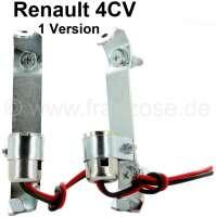 4CV, Rücklicht Fassung, 1 Ausführung (1 Paar). Passend für Renault 4CV, 1 Ausführung. Or. Nr. 8518460 + 8518461 | 85390 | Der Franzose - www.franzose.de
