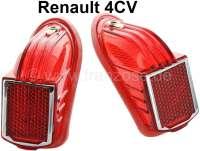 4CV, Rücklichtkappe 1 Ausführung (1 Paar). Passend für Renault 4CV, 1 Ausführung. Or. Nr. 8518462 + 8518463 | 85388 | Der Franzose - www.franzose.de