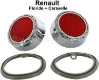 Floride/Caravelle, Rückstrahler (2 Stück). Passend für Renault Floride + Caravelle. Or. Nr. 8 556 293 + 8556 294 - 85376 - Der Franzose