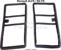 R4 F6, Dichtung (2 Stück) für die Rückleuchten. Nur passend für Renault R4 F6 Kastenwagen. Or. Nr. 770101862 + 770101879 - 85220 - Der Franzose