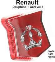 Kappe rechts, für Parkleuchte (Positionsleuchte) am Kotflügel. Passend für Renault Dauphine + Caravelle. - 85383 - Der Franzose
