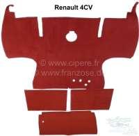 4CV, Teppichsatz, passend für Renault 4CV. 3 Teile. Bedeckt den ganzen Fahrgastraum. Farbe: dunkelrot - 88249 - Der Franzose