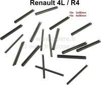 R4, Spannstifte für das Türscharnier. Passend für Renault R4. Abmessung: 3x50mm + 5x50mm. Packungsinhalt: je 10 Stück! - 87273 - Der Franzose