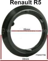 Rosette aus Gummi-Kunststoff, Einfassung des Türschloßes, passend für Renault R5. Innendurchmesser: 22mm. Aussendurchmesser: ca. 33,0mm. Or.Nr. 7700537758 - 87882 - Der Franzose