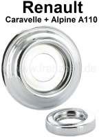 Caravelle/A110, Rosette (2-teilig) unter der Fensterkurbel + Türgriff klein. Passend für Renault Caravelle + Alpine A110. Außendurchmesser: 62mm. - 87748 - Der Franzose