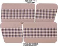 R4, Türverkleidung (4 Stück), aus Kunstleder + Stoff. Farbe: beige-kariert. Passend für Renault R4, ab Baujahr 1980 - 88025 - Der Franzose