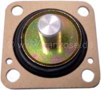 Membrane Beschleunigerpumpe, Peugeot 205 GL - Solex 32 PBISA. Renault R5 Turbo - Solex 32 BIS. Stößelhöhe 11mm. Rechteckig 36x36mm. - 72842 - Der Franzose