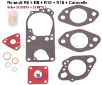 Vergaser Reparatursatz Solex 32 DISTA + 32 DITA 3. Passend für Renault R6, R8, R10, R16, Caravelle. - 82883 - Der Franzose