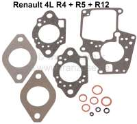 Vergaserdichtsatz, Solex 32 EISA-3. Passend für Renault R4, R5, R12. - 82669 - Der Franzose