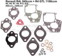 Vergaserdichtsatz Solex 32 EISA 4-32, 32 EISA 2-3. Passend für Renault R4L 845ccm, R4 GTL 1108ccm, R5, R6, R7, R8, R12, R18. Motoren 850ccm bis 1289ccm. - 82933 - Der Franzose