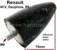4CV/Dauphine/R8, Gummianschlag Vorderachse (neue Version) unten. Passend für Renault 4CV, Dauphine, R8. Or. Nr. 8300011   83393   Der Franzose - www.franzose.de