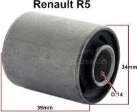 R5, Silentbuchse Aufhängung - Federung. Passend für Renault R5. Maße: 14 x 34 x 45 x 39mm. - 83316 - Der Franzose