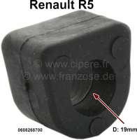 R5, Stabilisatorgummi (per Stück), für 19mm Stabilisator. Passend für Renault R5. Or. Nr. 0608268700 - 83406 - Der Franzose