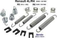 Bremsbacken Montagesatz. Bremssystem: Bendix. Passend für Renault R4, R5. Für Bremstrommeldurchmesser: 229mm. Belagbreite: 42mm. - 84039 - Der Franzose