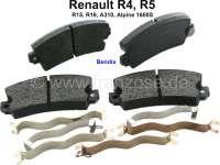 Bremsklötze vorne (1 Satz). Bremssystem: Bendix. Passend für Renault R4, R5, R16, R15, Alpine A310, R12, Alpine 1600S. Breite: 108,9mm. Höhe: 49mm. Dicke: 14,0mm. Nachbau - 84048 - Der Franzose