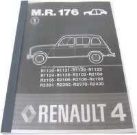 Reparaturhandbuch Karosserie. Passend für Renault R4. Nachdruck von dem originalen Renault Handbuch (M.R.176). 185 Seiten. Sprache: Deutsch. | 88151 | Der Franzose - www.franzose.de