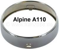 A 110, Zusatzscheinwerfer Chromring (Jod Scheinwerfer). Passend für Alpine A110. Per Stück. Durchmesser vorne: 150,4mm. Durchmesser hinten: 160mm. Breite des Chromringes: 39,5mm. - 85370 - Der Franzose