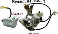 Ducellier, Kontakt + Kondensator Ducellier. Passend für Renault R4 (1108ccm), ab Baujahr 06/1978. Renault R9 + R11. Original von Bougicord, kein Nachbau. Made in France. - 82291 - Der Franzose